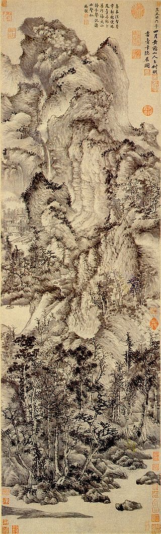 Ван Мэн. Жилище в горах Цинбянь. 1366 г. Музей Шанхая.