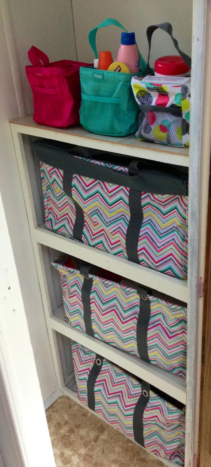 Thirty-One closet in my camper!! :) Would love this, but we will see!! I would need to hold a party to get what I want!!!