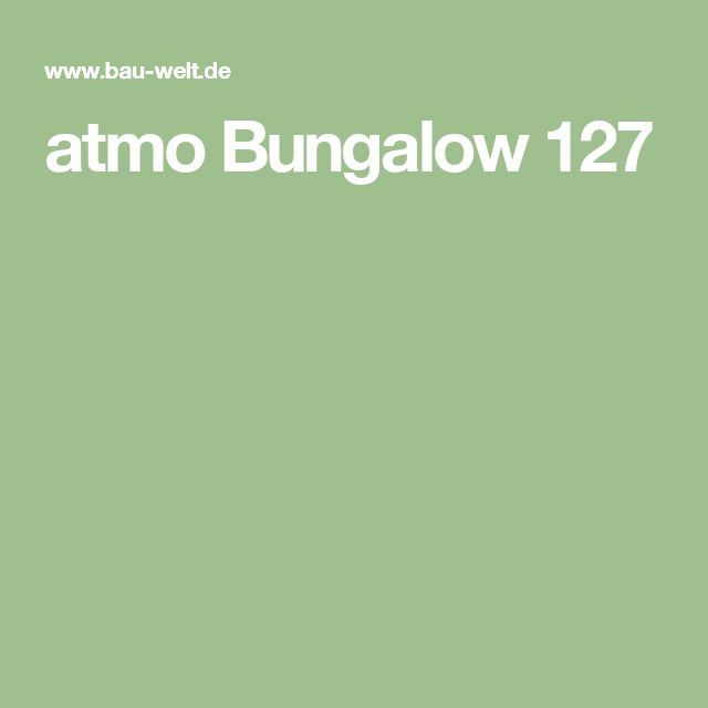 atmo Bungalow 127