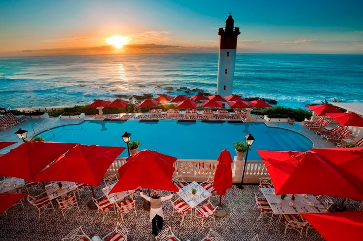 The Oyster Box hotel in Umhlanga, South Africa