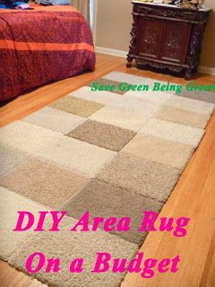 #DIY Area Rug on a Budget and using carpet samples #homedocorating