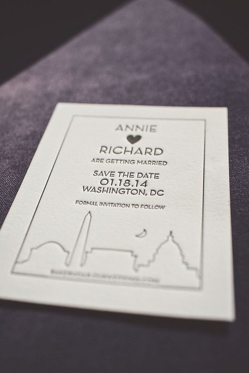 A Stunning Washington DC Wedding from Michael Moss Photography - save the date card