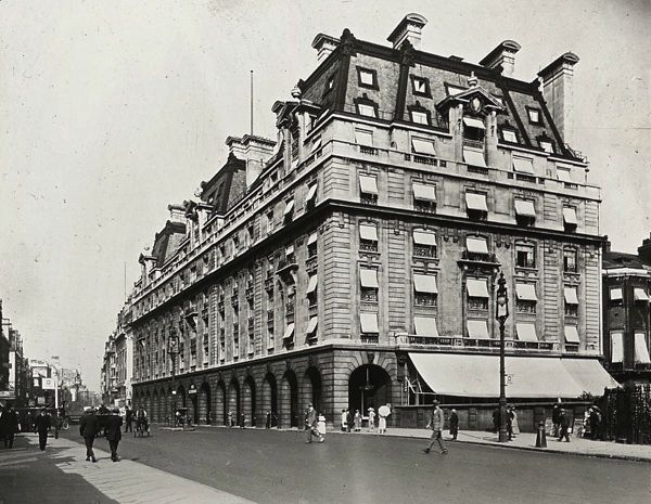 Ritz Hotel, 1900. The Ritz, London is a Grade II listed 5-star hotel located in Piccadilly in London, England. A symbol of high society and luxury, the hotel is one of the world's most prestigious and best known hotels. It is a member of the international consortium, The Leading Hotels of the World.  The hotel was opened by Swiss hotelier César Ritz in May 1906, eight years after he established the Hôtel Ritz Paris.