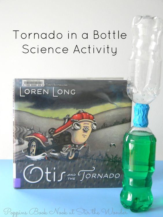 Read Otis and the Tornado, then do this Tornado in a Bottle Science Activity to give a hands-on demonstration for how tornados swirl in the sky! It's the perfect activity to pair with this book about wild weather and helping those in need, even if they haven't always been nice!