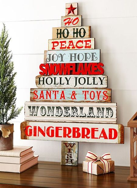 reclaimed wood pallet christmas trees to DIY
