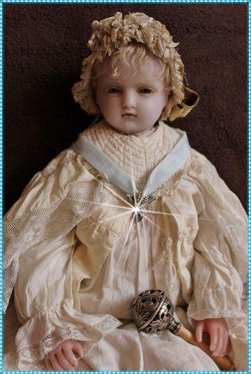 https://flic.kr/p/DKV65i   stunning Pierotti wax doll   - Pierotti poured wax doll - 54cm - collectionLommel