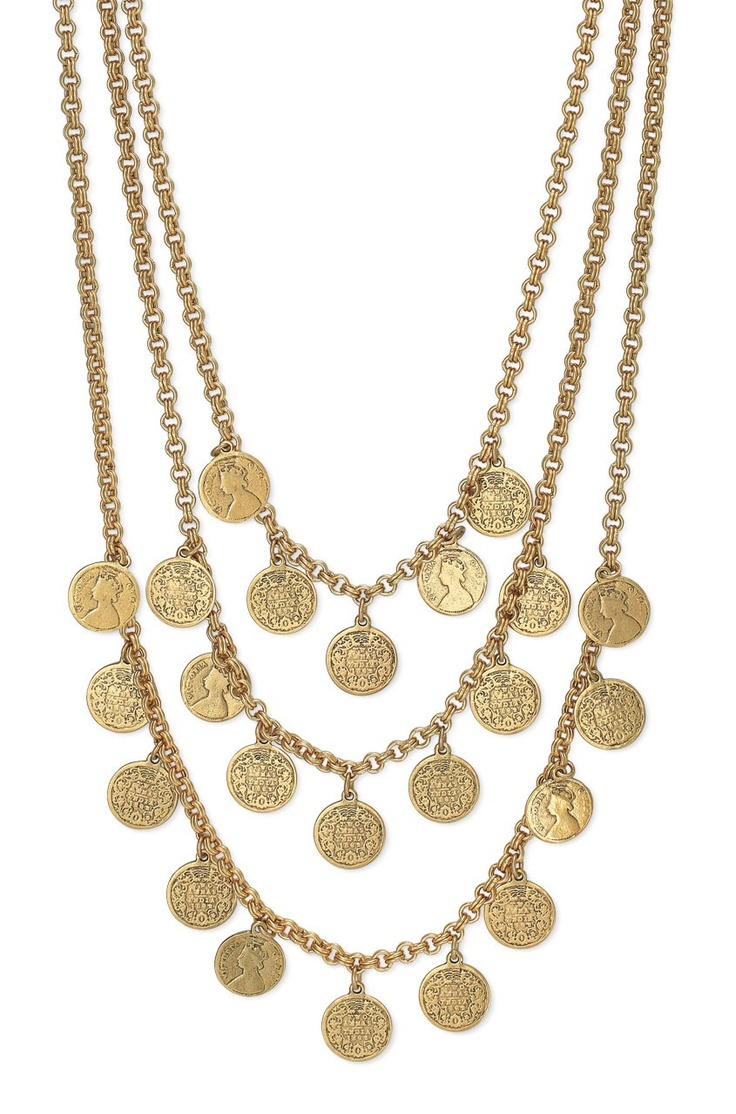stella+dot $128 jewelry gold necklace