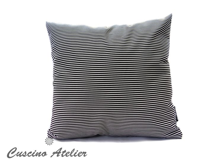 poduszka dekoracyjna  poduszka ozdobna Cuscino Atelier poduszka z wkładem poszewka poduszka w paski