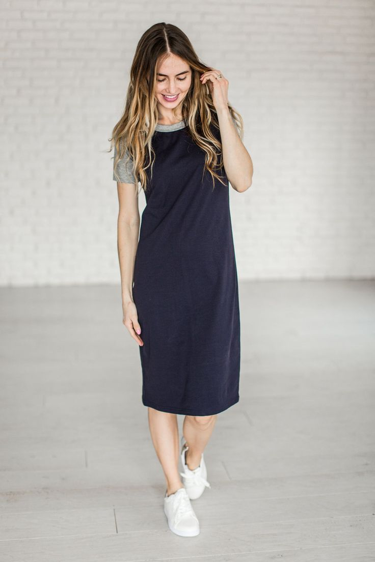 Baseball Dress - Navy