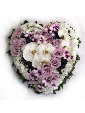 Heart Wreath - Donvale Flower Gallery