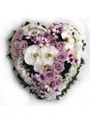 Heart Wreath - Donvale Flower Gallery