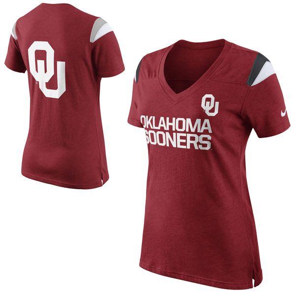 Nike Oklahoma Sooners Women's Fan Top T-Shirt - Crimson - $20.99
