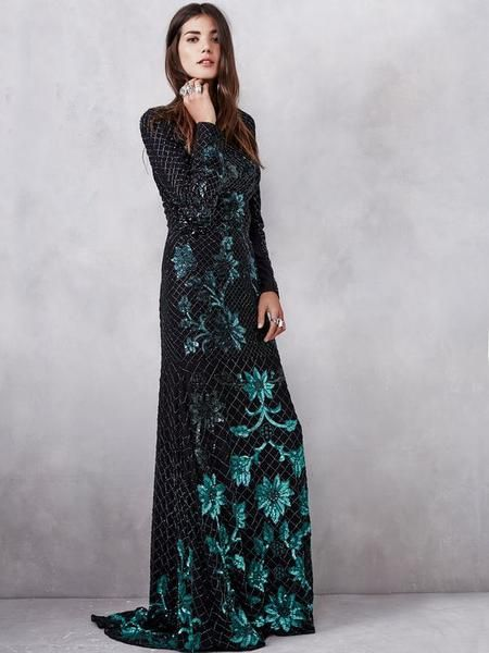 Modest Sequin Gown