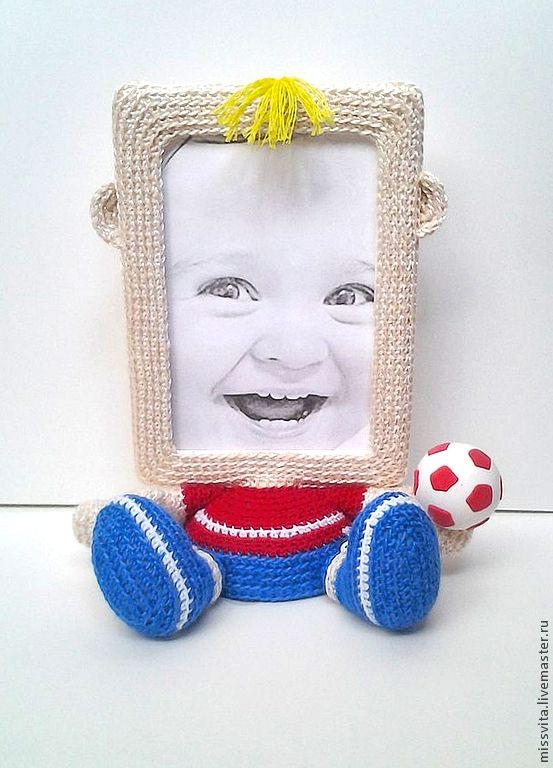 """Купить Рамка для фото """"Футболист"""" - фоторамка, рамка для фото, подарок на день рождения, в детскую, для дома"""