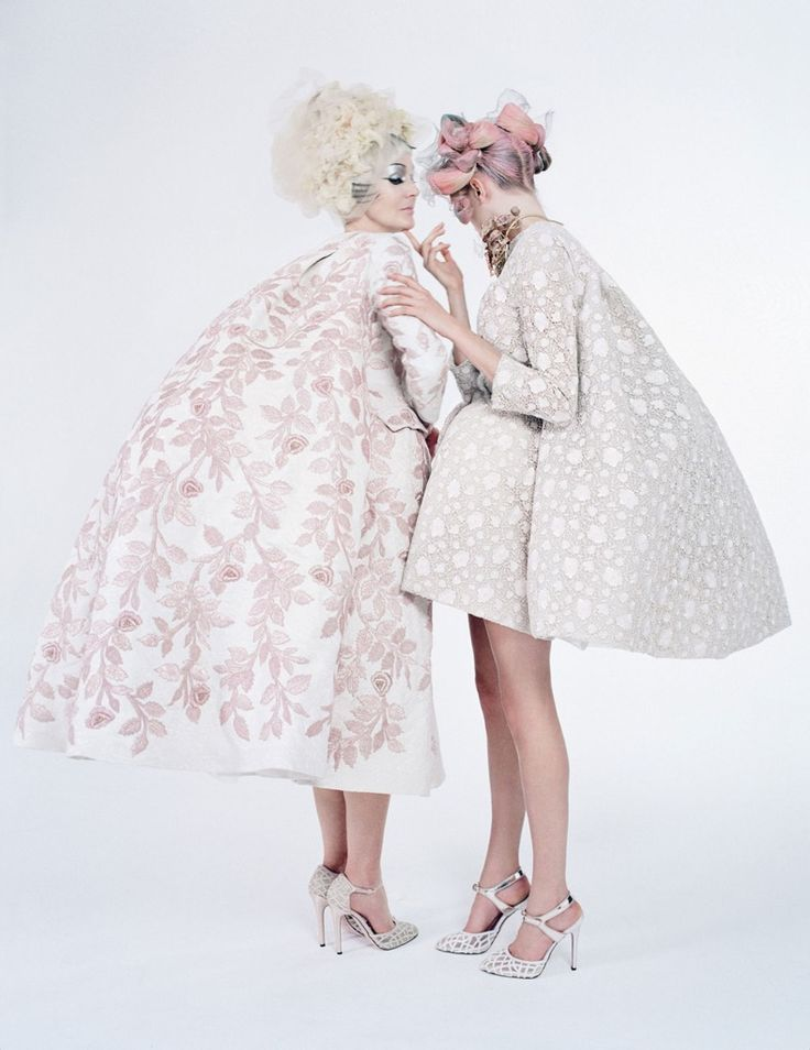 Coutures Outre Attitude for W April 2013 photographed by Tim Walker and styled by Edward Enninful