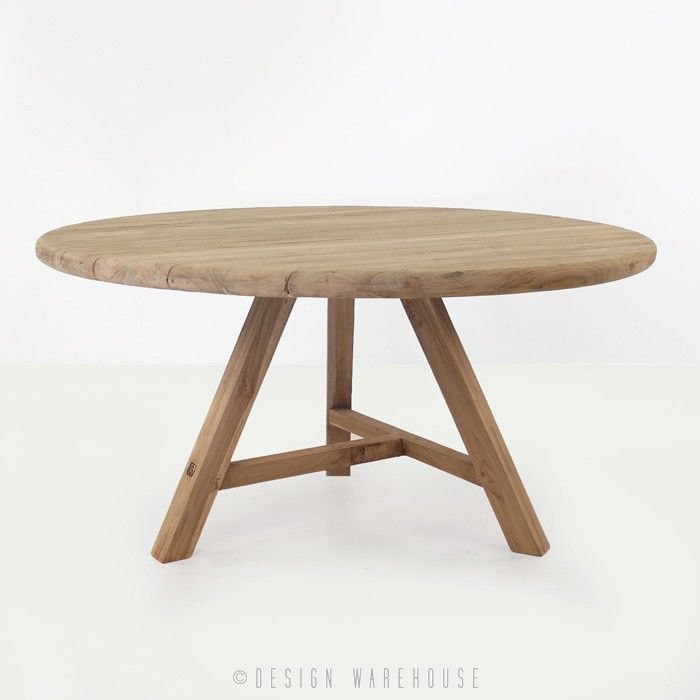 Toni Reclaimed Teak Round Outdoor Dining Table - Dining Tables - Dining