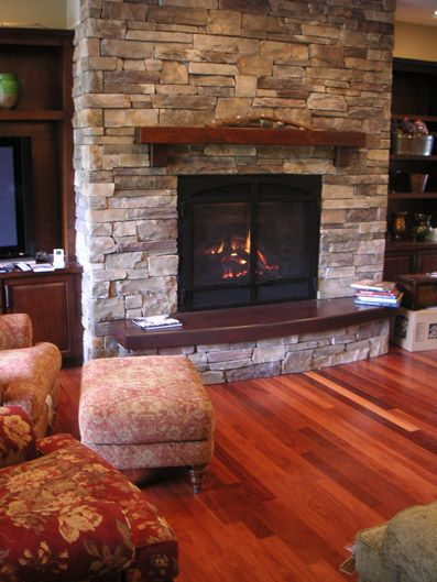 Flat Fireplace Hearth Ideas