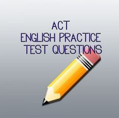 Here are some great FREE ACT English Practice Test Questions to refresh your memory and to learn more about what is expected on the ACT exam! http://www.studyguidezone.com/act_english.htm  #act  #college