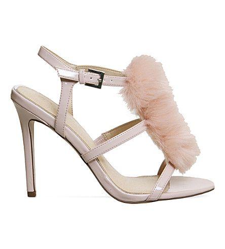 OFFICE - Hurrah pom pom patent sandals | Selfridges.com