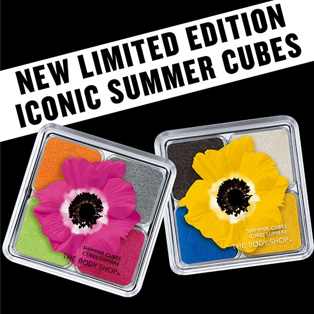 NEW Limited Edition Iconic Shimmer Cubes in Pink and Yellow: http://www.thebodyshop.co.za/store/list/category/new-trend-make-up