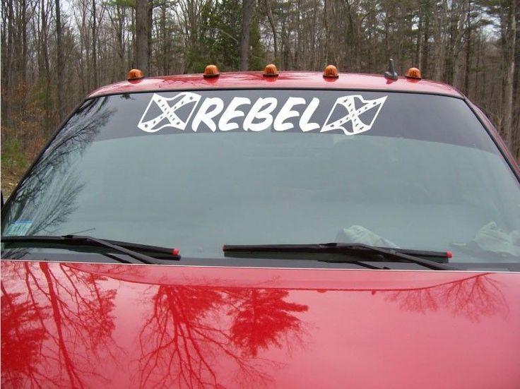 Best Decals Images On Pinterest Truck Decals Truck Stickers - Rebel flag truck decals   online purchasing