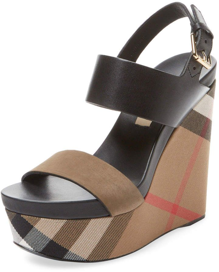 Burberry Women's House Check Leather
