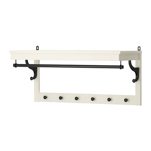 HEMNES Hat rack IKEA  Somewhere to store a new nicknacks / cook books and to hang your coat when you visit.