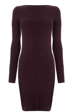 This long sleeve dress is constructed from a soft, lightweight knit and featured a round neck and textured, stripe knitted design to the front and sleeves. Length of dress, from shoulder seam to hem, 90cm approx. Height of model shown: 5ft 10 inches/178cm. Model wears: UK size 10.Fabric: Main: 55.0% Viscose