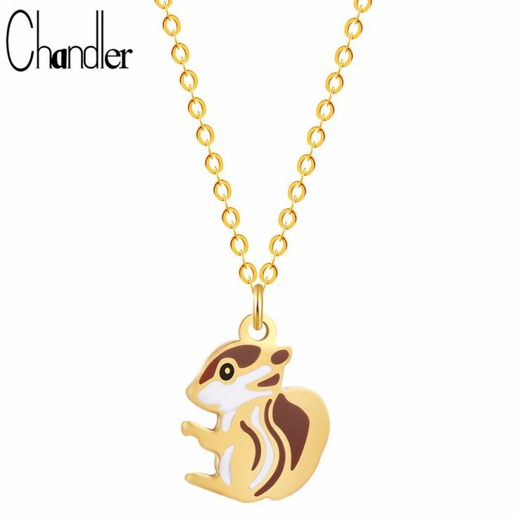 1915 best necklaces pendants images on pinterest collars chandler cute squirrel pendant necklace tiny small charm stainless steel animal charms chain clavicle coller sale aloadofball Gallery
