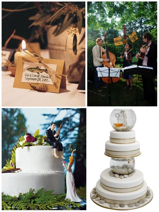 236 best wedding ideas images on pinterest wedding stuff weddings fishing wedding ideas boats fishing theme wedding ideas such as fish topper share junglespirit Choice Image