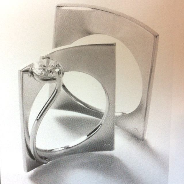 yes this is an engagement and wedding ringweird much - Weird Wedding Rings