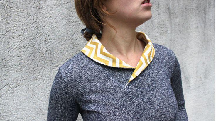 Mrs. Klassik - klassischer DamenPullover Gr. 34 - 56 - Schnittmuster und Nähanleitungen bei Makerist