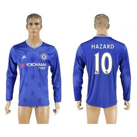 Chelsea 16-17 #Hazard 10 Hjemmebanetrøje Lange ærmer,245,14KR,shirtshopservice@gmail.com