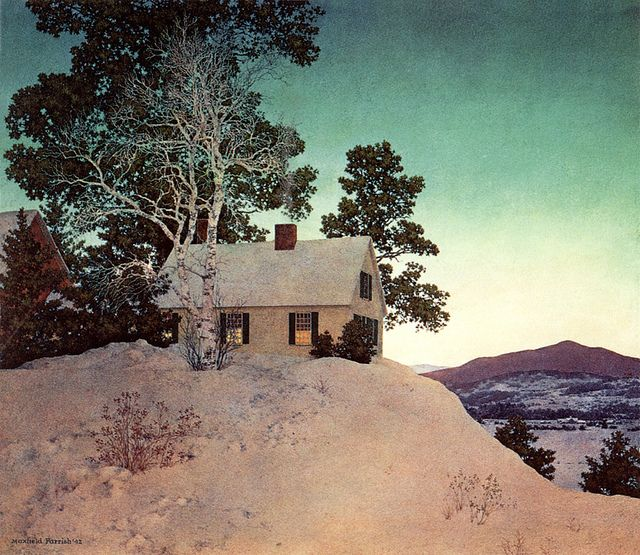 'Dusk' (1942) by Maxfield Parrish