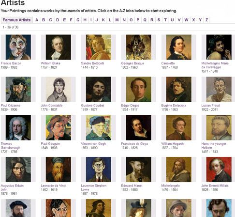 If you're a teacher, you can now draw on paintings by nearly 20,000 artists, in a wide range of styles painted over the last 800 years.  Most of the great masters are well represented, with some of their best known works.   # Pin++ for Pinterest #