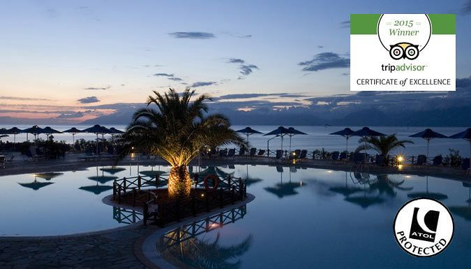 Corfu, Greece: 3-7 Night 4* All Inclusive Break With Flights - Up to 35% Off Jet off for an all-inclusive paradise island holiday with a 3, 5 or 7-night stay in Corfu      All meals and drinks are included in the price      Kick back in style and luxury at the 4* Mareblue Beach Corfu Resort Hotel      Winner of the 2015 TripAdvisor Certificate of Excellence      3 on-site restaurants with...