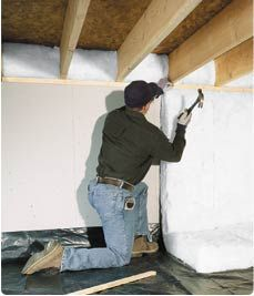 17 best images about crawlspace project on pinterest for Blanket insulation basement walls
