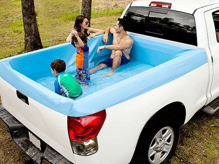 Truck bed swimming pool breaks down cultural barriers - Volume of a swimming pool formula ...