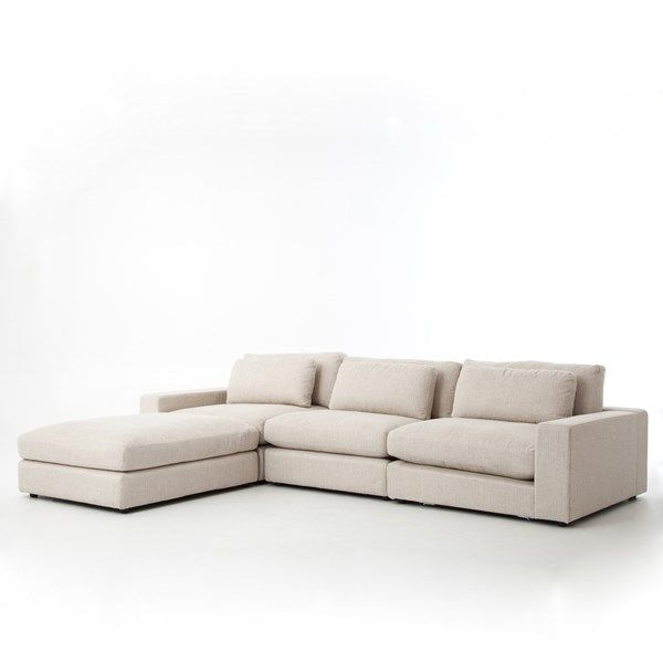 Shop Our Large Bloor Beige Contemporary 4 Piece Sectional Sofa Sale Our Modular 4 Piece Small Sectional Sofas Features Deep Low Seating Solid Wood Frame