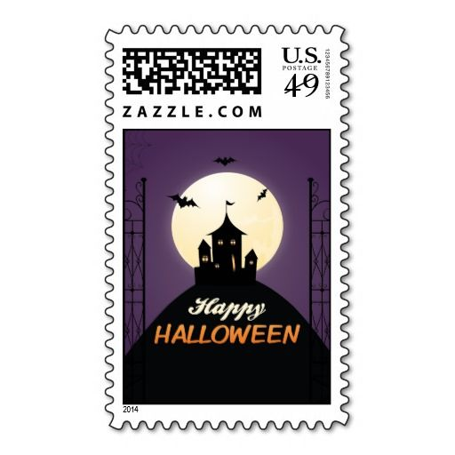 52 best halloween party invitations images on pinterest halloween cute happy halloween postage stamps stopboris Choice Image