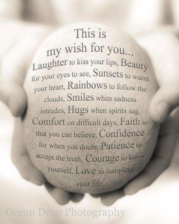 My Wish For You Print, Friendship Print, Inspirational Art ...