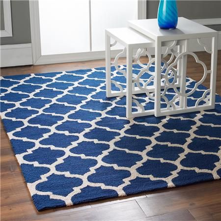 rugs galore!   Moorish Trellis Soft Carved Rug my navy and white obsession