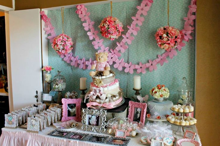 17 best images about emma 39 s shabby chic baby shower decor for Baby shower tree decoration