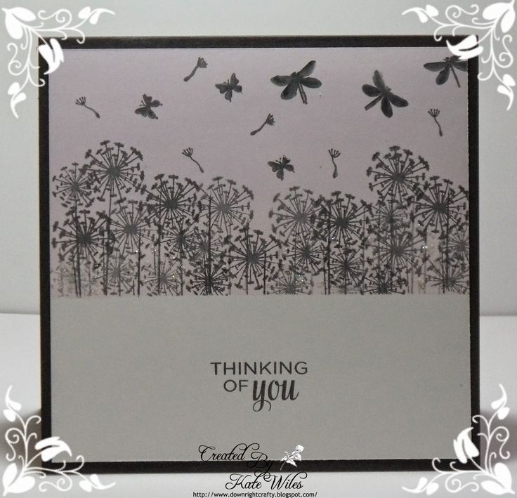 Thinking of you CAS handmade card, using Card-io Majestix little stamps