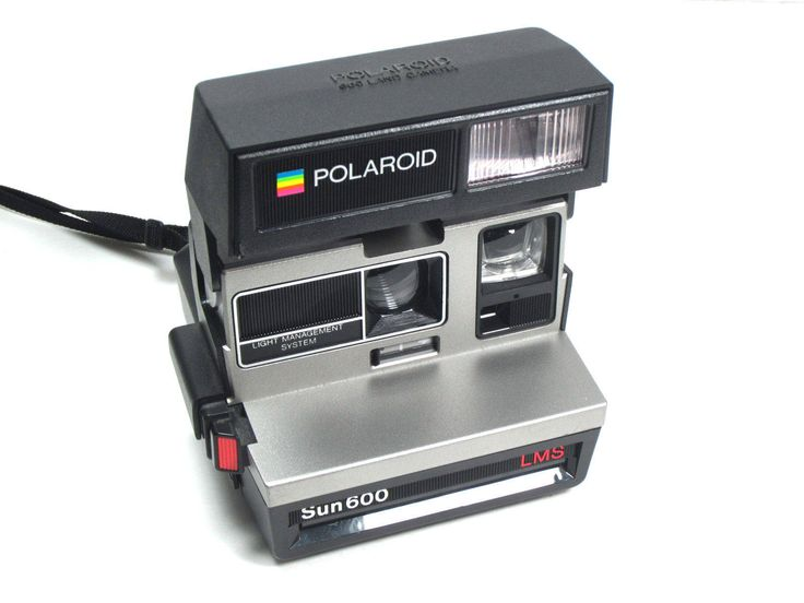 Polaroid Sun 600 LMS Instant Camera With Strap Film Tested Vintage Impossible Project via EchoDecoModern on Etsy