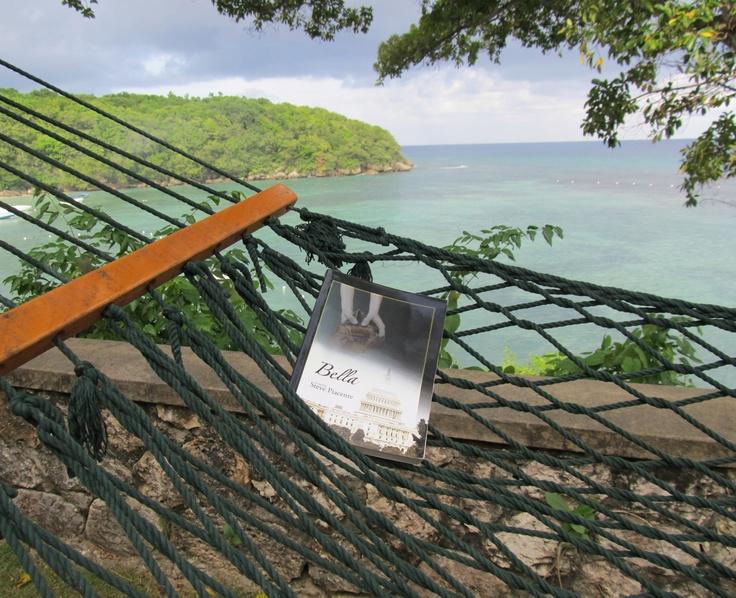 Bella lounging in Jamaica.