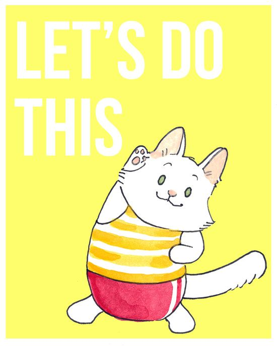 I love the 'Breaking Cat News' strip - Lupin looks so cute here - I am inspired! Lupin Motivational Poster Art Print