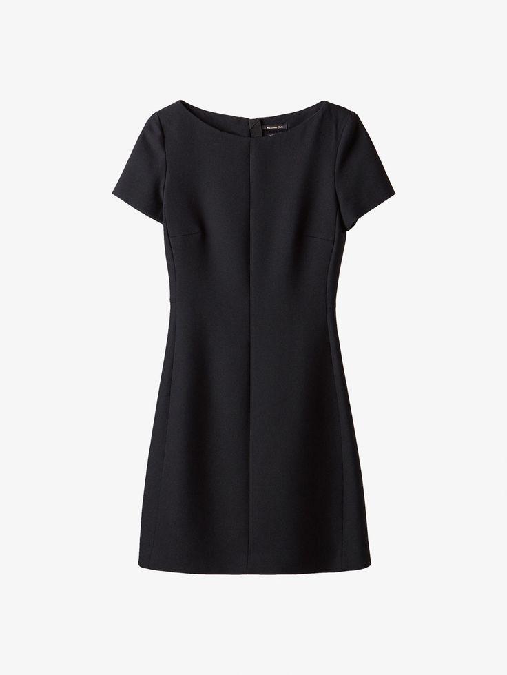 Spring summer 2017 Women´s BLACK A-LINE DRESS at Massimo Dutti for 999. Effortless elegance!