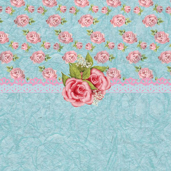 """""""Vintage Elegant Pink Roses Pattern"""" by Debra Miller.  A little bit vintage and a little bit shabby chic.  Very nice card."""
