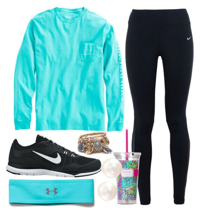 """""""{lazy day}"""" by preppy-southern-girl-1-2-3 ❤ liked on Polyvore featuring Vineyard Vines, NIKE, Under Armour and Lilly Pulitzer"""